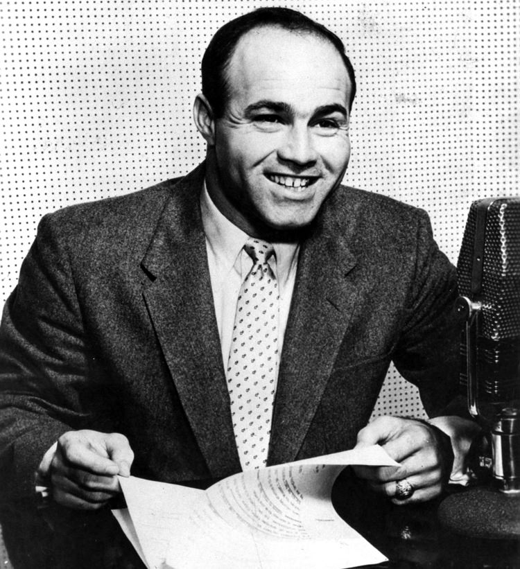 Joe Garagiola on Mic