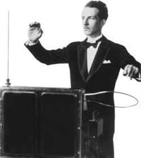 Leon Theremin Playing Theremin