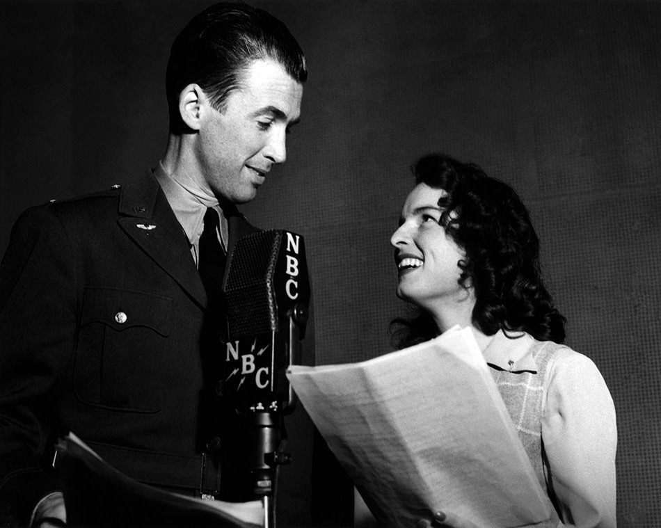 Jimmy Stewart and Mercedes McCambridge
