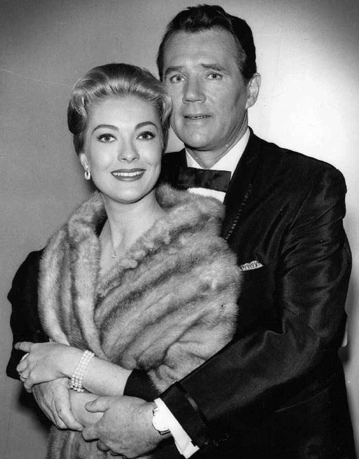 Lori Nelson and Howard Duff