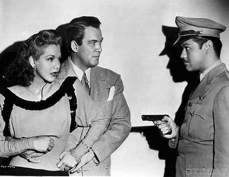 Maria Montez, William Gargan, & Turhan Bey