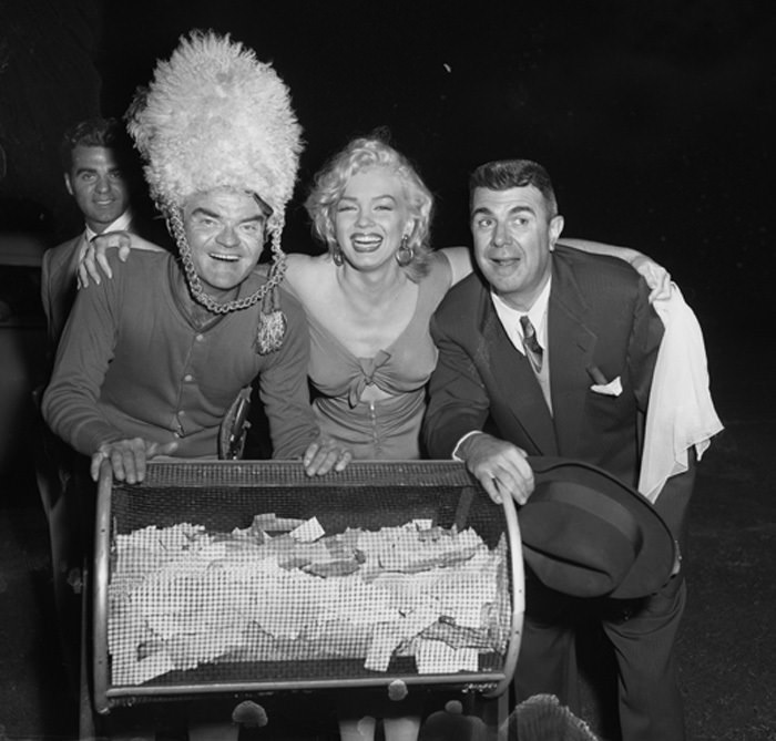 Spike Jones, Marilyn Monroe, and Ken Murray
