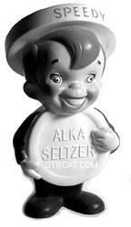 Speedy Memorabilia - the spokesman of Alka Seltzer