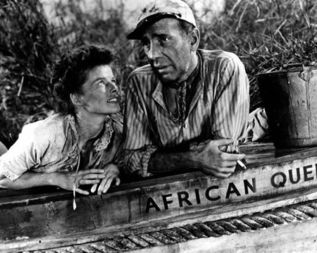 African Queen with Bogart and Hepburn