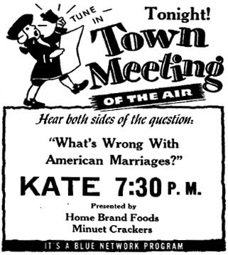 America's Town Meeting Of The Air