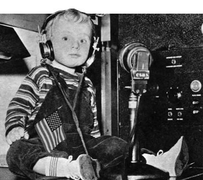 Child listening to Radio