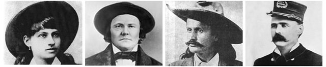 Annie Oakley, Kit Carson, Pawnee Bill, Ben Thompson
