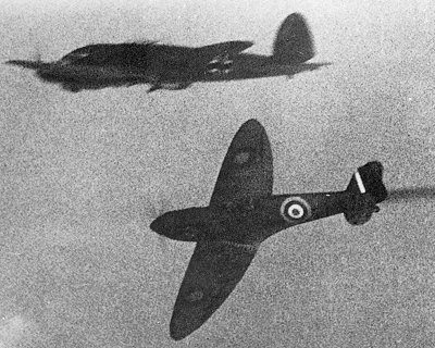 Arial Dogfight British and Nazi