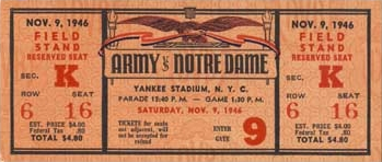 Army V Notre Dame 1946