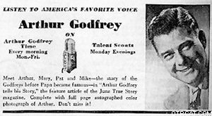 Arthur Godfrey Time ticket