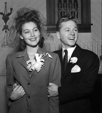 Ava Gardner & Mickey Rooney married 1942