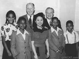Barbara Jean Wong with cast of Amos and Andy