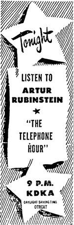 Bell Telephone Hour Arthur Rubenstein