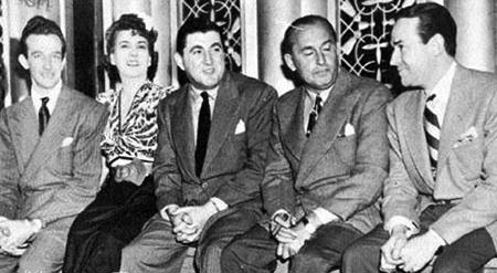 Harry James, Louis Tobin (Mrs James), Tony Pastor, Ben Bernie, Jimmy Dorsey