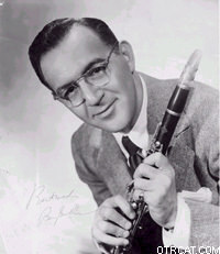 Benny Goodman with clarinet