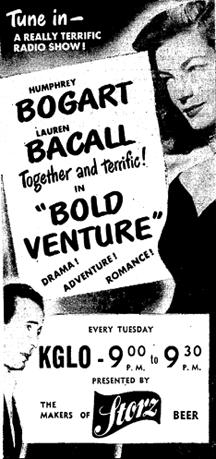 Bogart Bacall Bold Venture