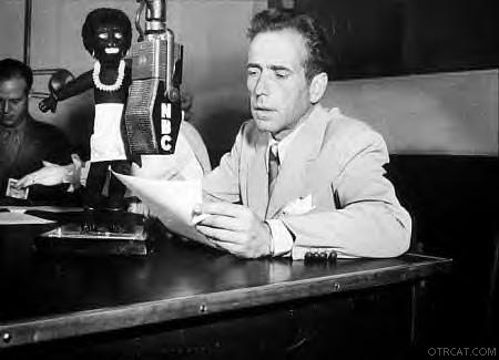 Bogart on Mic, circa 1940