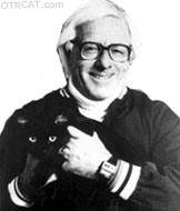 Ray Bradbury and cat