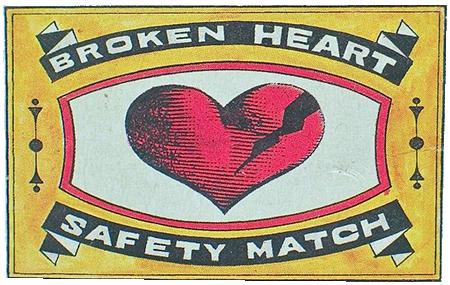 Broken Heart Safety Match