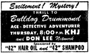 Bulldog Drummond Ad