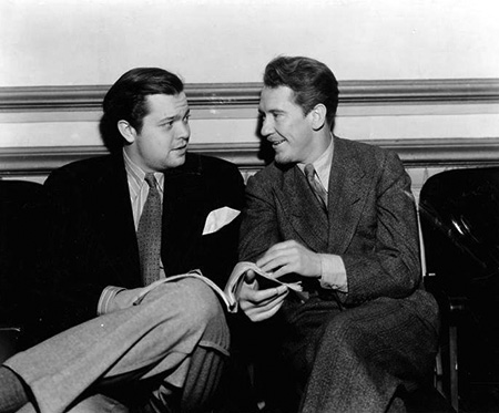 Burgess Meredieth and Orson Welles