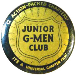 Junior G-Men Club Button
