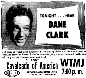 Cavalcade of America - Dane Clark