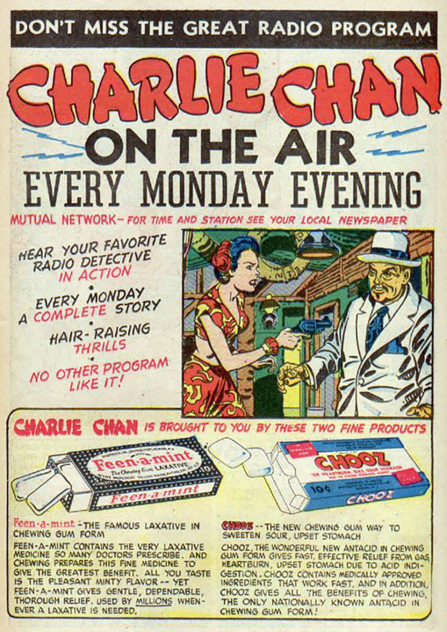 Charlie Chan Advertisement