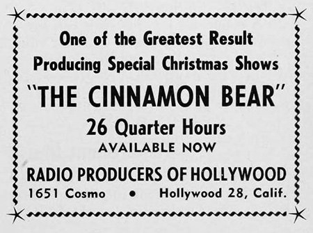 Cinnamon Bear Advertisement