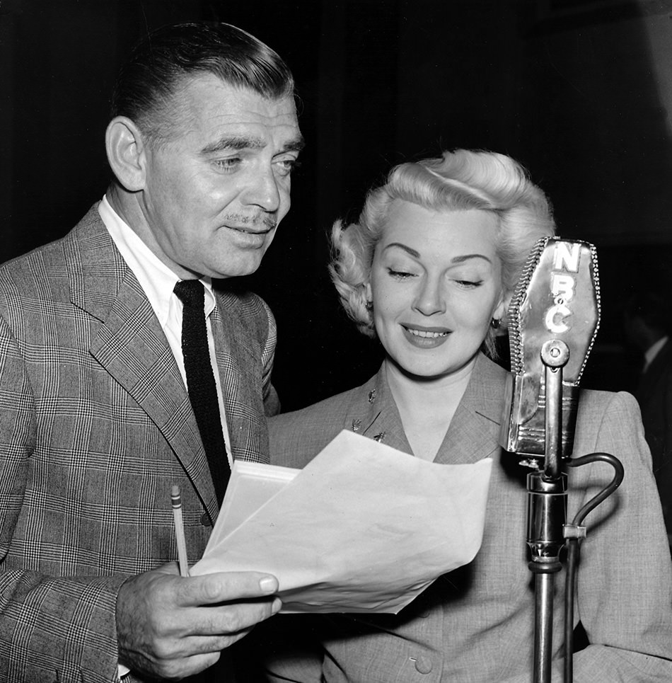 Clark Gable and Alice Faye on the radio