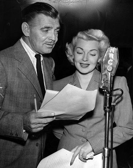 Clark Gable and Lana Turner on the radio