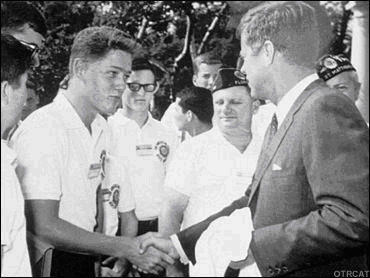 Young Bill Clinton Meeting JFK