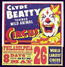Clyde Beatty Trained Wild-Animal Circus Poster