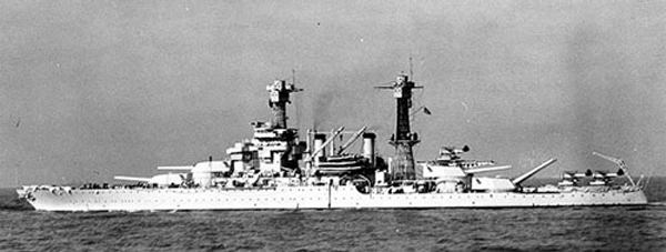 USS Colorado with Floatplanes