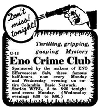 Crime Club Advertisement