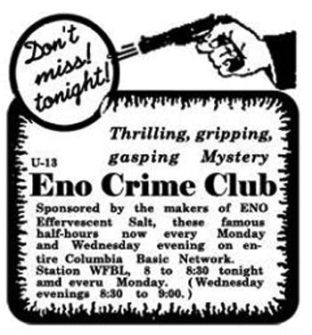 Crime Club Advertisement
