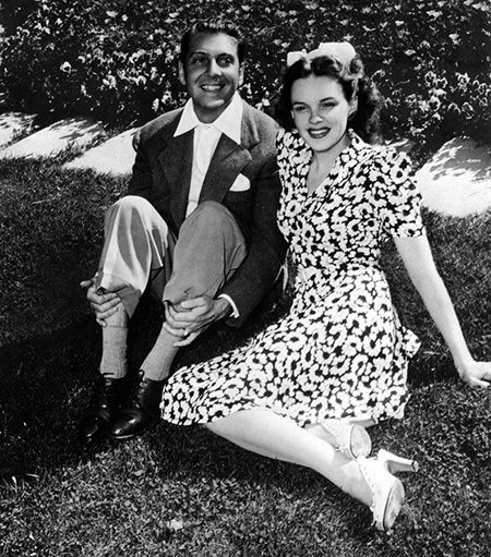 David Rose and Judy Garland