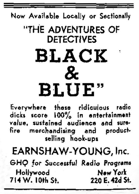 Black and Blue Advertisement