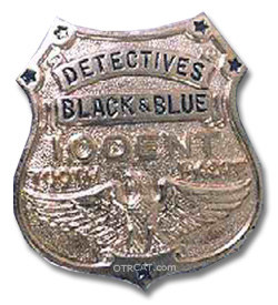 Detectives Black & Blue Badge