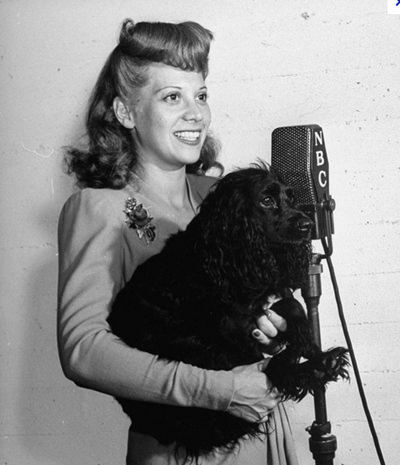 Dinah Shore & Dog