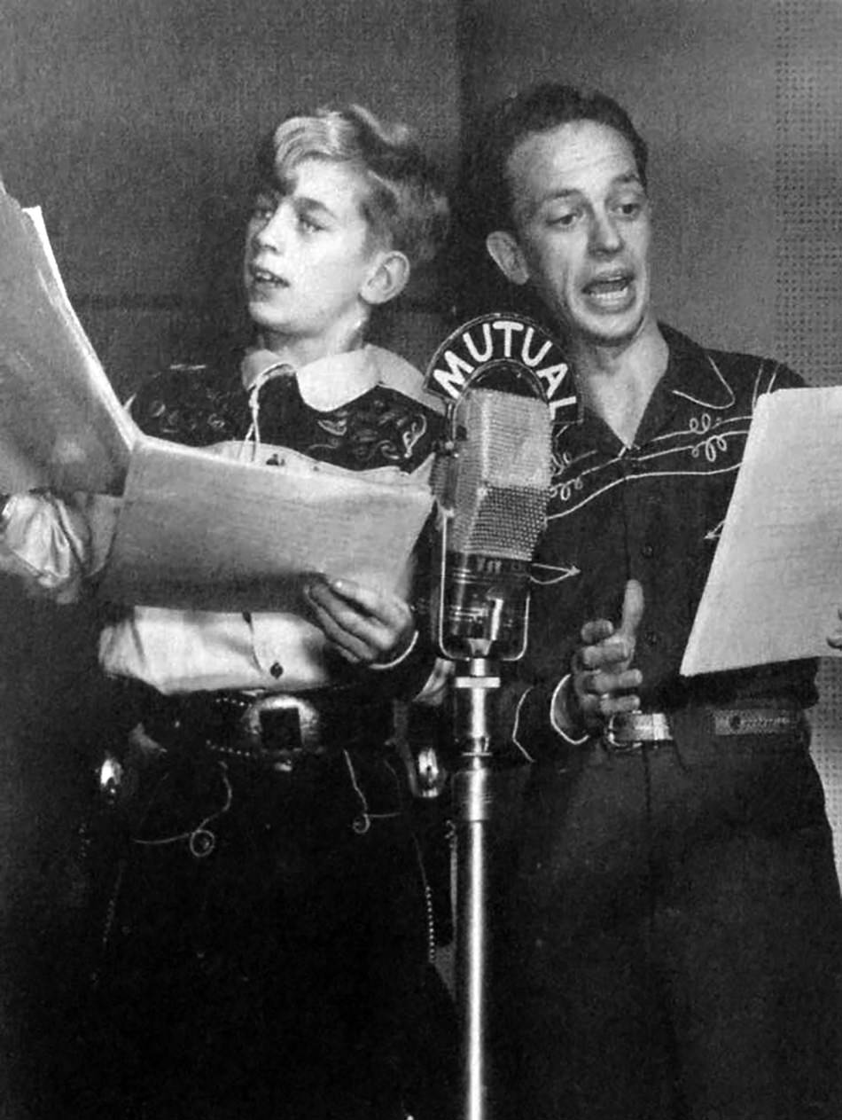 Don Knotts playing the role of geezer, Windy Wales on Bobby Benson radio show