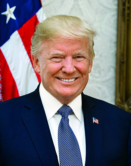 Donald Trump smiling portrait