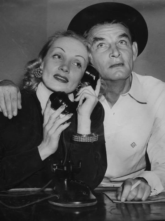 Ed Gardner (Duffy's Tavern) with Marlene Dietrich