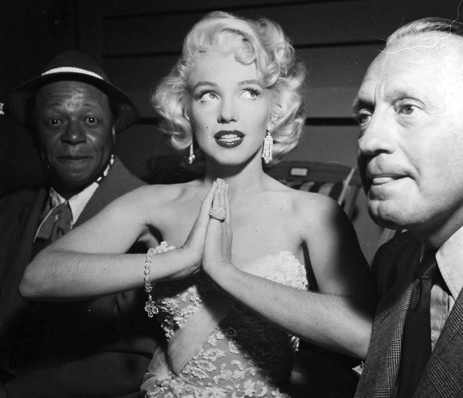 Eddie Anderson, Marilyn Monroe, and Jack Benny