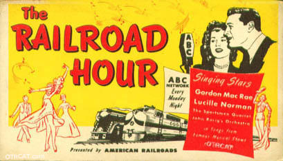 The Railroad Hour Old Time Radio Show Advertisement