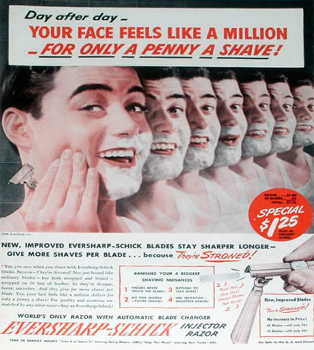 Evershark Schick Razor Advertisement