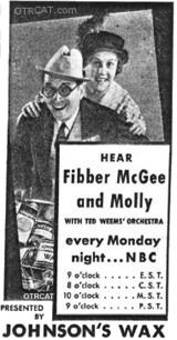 Fibber McGee and Molly advertisement