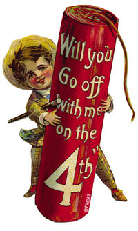 Will you go off with me on the 4th vintage card