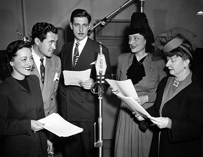 Frank Lovejoy and radio cast