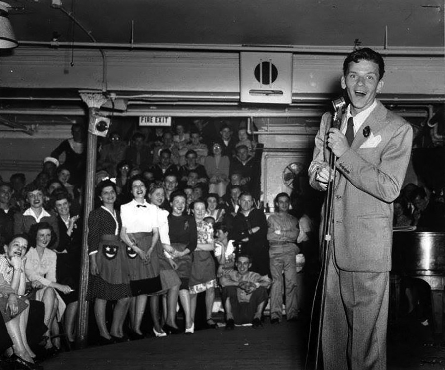 Frank Sinatra on Stage Door Canteen